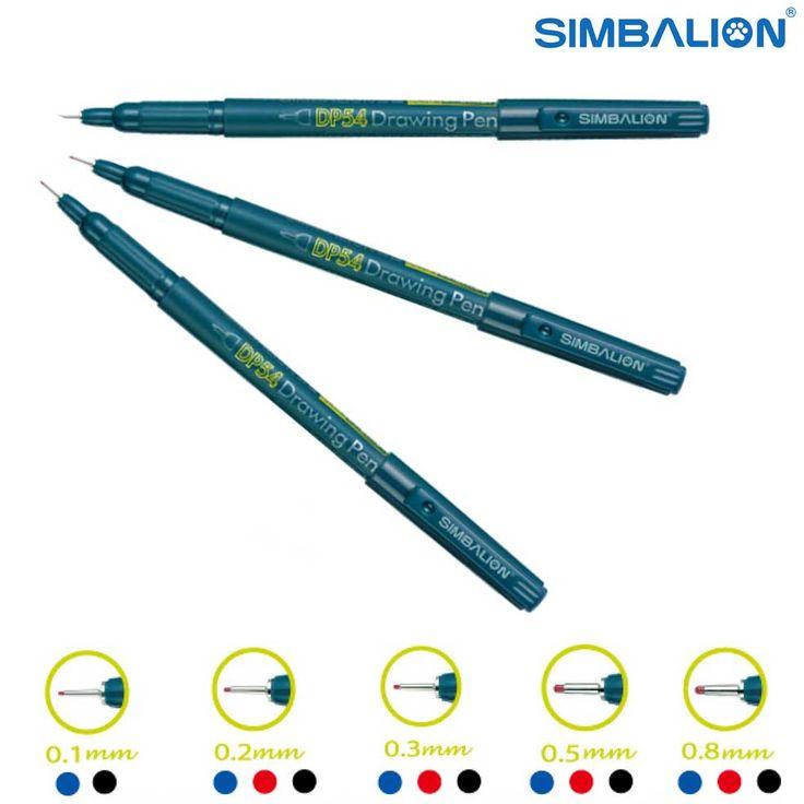 Drawing Pen #Simbalion cocok untuk menggambar, terutama pada gambar arsitektur dan gambar yang memerlukan detail. Ujung Tip lebih lembut sehingga tidak mudah patah