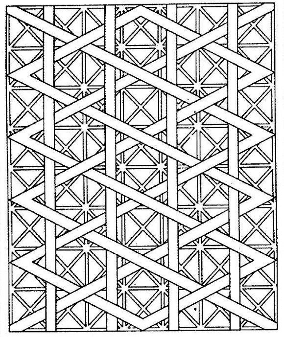 Free printable coloring pages for adults! Geometric