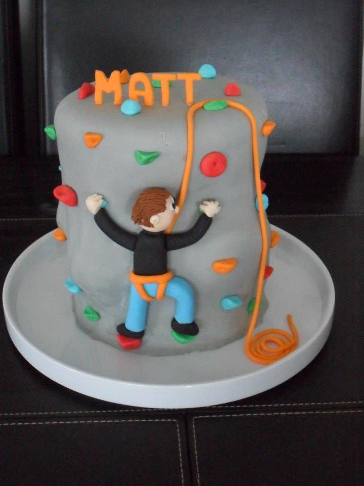Rock Climbing Cake Pinteres