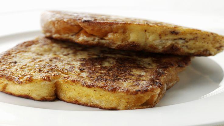 French-Toast-Rezept: Der amerikanische Start in den Tag In den USA steht gern schon morgens die Pfanne auf dem Herd. Das French-Toast-Rezept zeigt, dass darin nicht unbedingt Bacon oder anderes Fleisch brutzeln muss