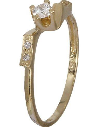 Μονόπετρο δαχτυλίδι Κ14 018960 018960 Χρυσός 14 Καράτια #style #fashion #moda