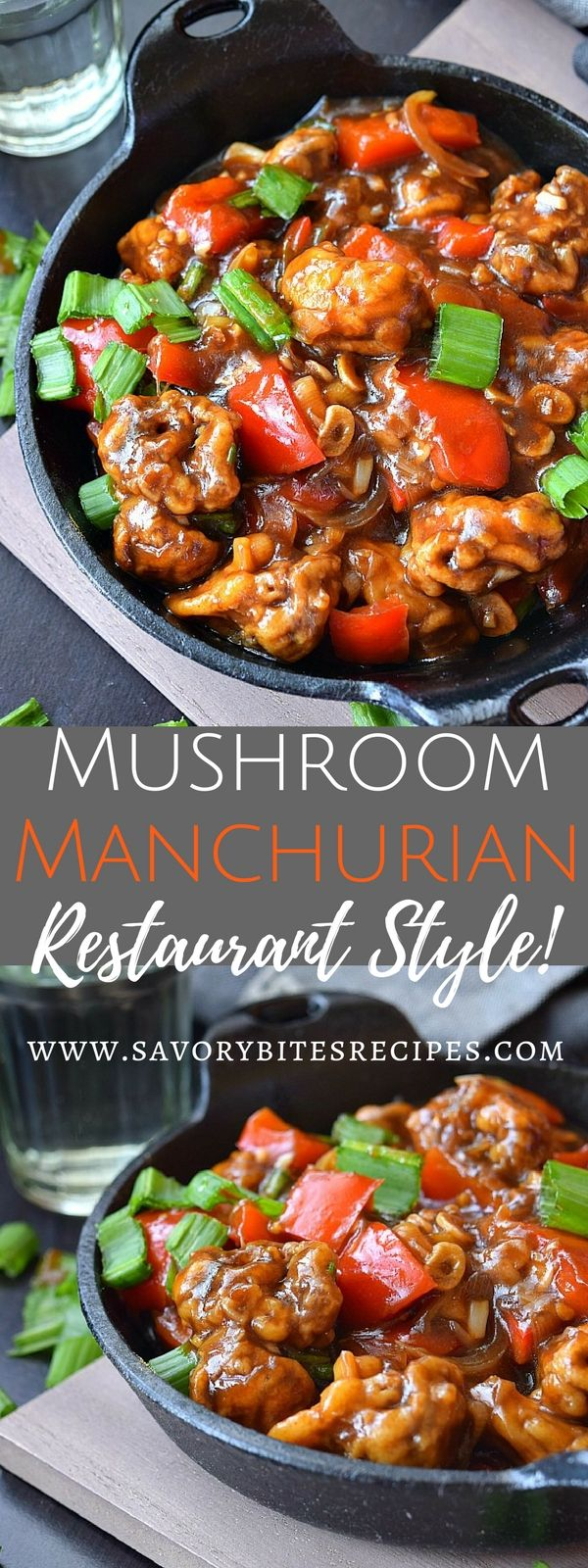 Restaurant style Mushroom Manchurian under 30mins! #easy #recipe #chinese #food