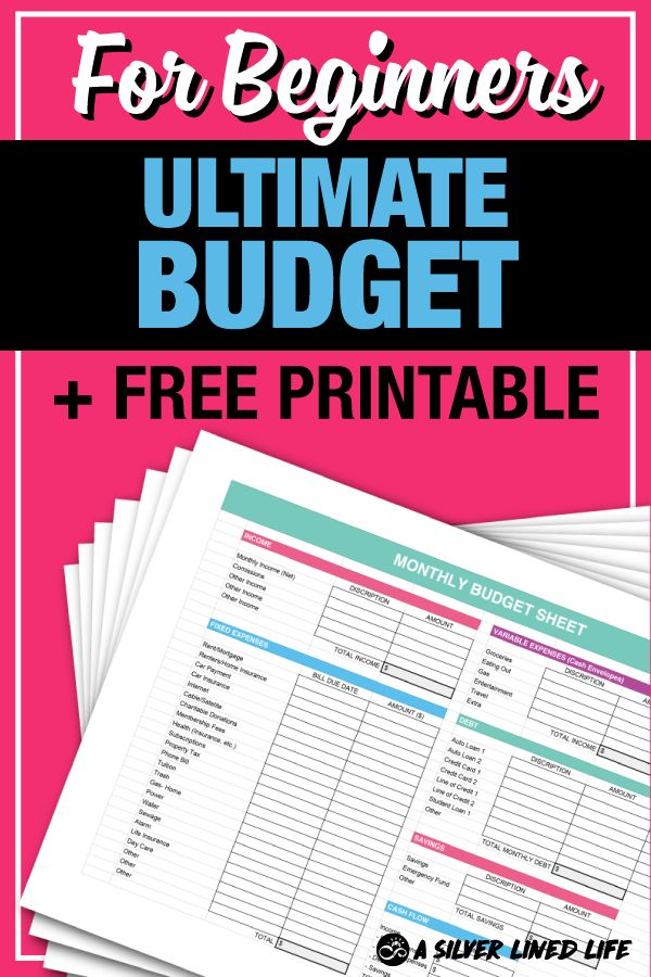 The ULTIMATE budget for beginners. Includes free printables, worksheets, a spreadsheet and tips to manage your money in the best way possible! Dave Ramsey inspired (binder or the cash envelopes) money habits included. Living on a budget monthly with a planner and saving on meals (or grocery items) can make a HUGE difference! Get started saving money monthly with this simple DIY weekly finance plan. Work towards frugal living and reach your goals! #budget #frugalliving #savemoney #makemoney…