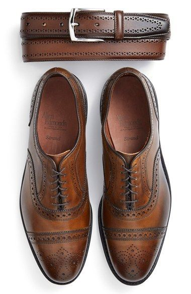 Accord chaussures et ceintures par Allen Edmonds #style #menstyle #menshoes #oxfordshoes #brogues #shoes #belt #look #mode #homme #chaussures