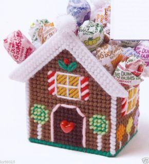 Gingerbread Goodie Basket Plastic Canvas Pattern