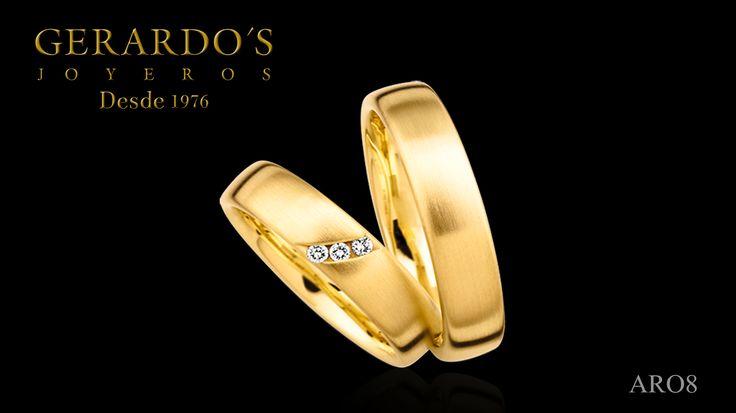 Aros de Matrimonio, oro, diamante, engagement ring, gold, diamond, peru, lima, wedding ring
