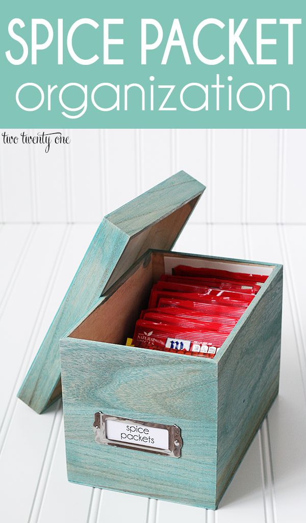 GREAT way to organize spice packets! #kitchens #pantries #foodorganization
