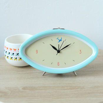 Oval Retro Style Swallow Alarm Clock