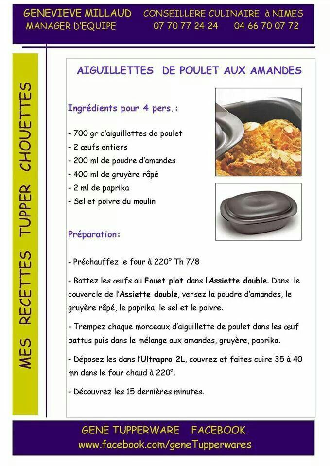 Tupperware salé - Aiguillettes de poulet aux amandes