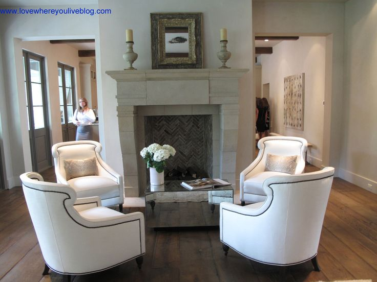 Club chairs and fireplace with mosaic tile. Club Chairs in Living Room - 61 Best Images About Furniture Arrangement - Four Chairs On