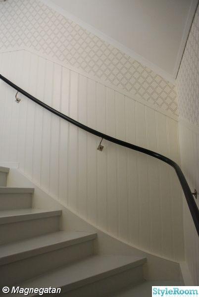 grå trappa,svart trappräcke,pärlspont