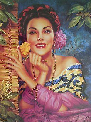 Vintage-Traditional-Mexican-Calendar-Art-Jesus-Helguera-Belleza