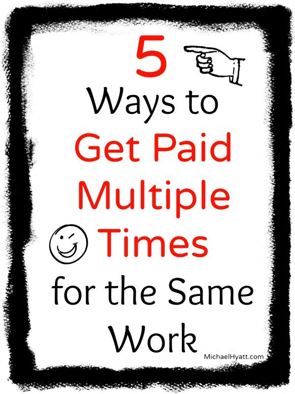 Passive income is when you get paid over and over again. Learn how to make passive income. Michael Hyatt