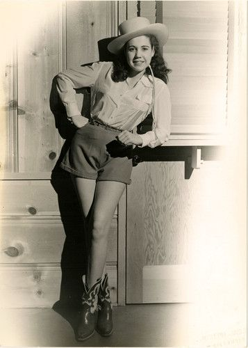 Joseph Jasgur Miss Victory cowgirl pin-up photo, 1942.