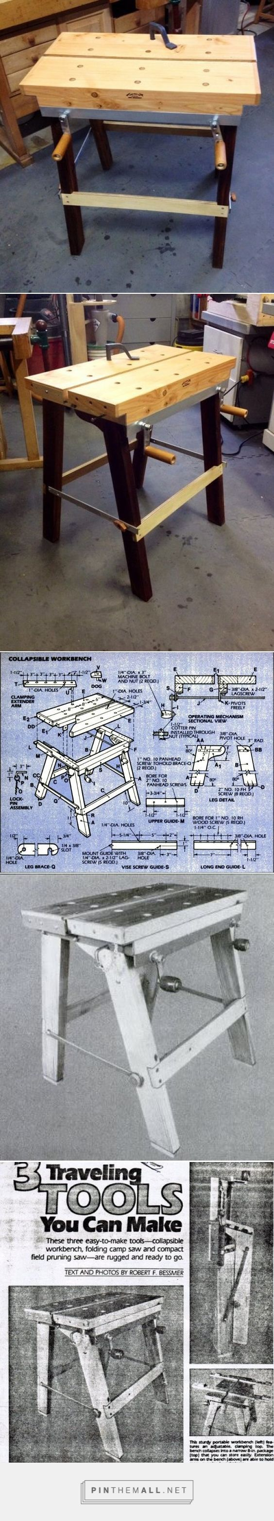 Collapsible workbench - by Doug @ LumberJocks.com