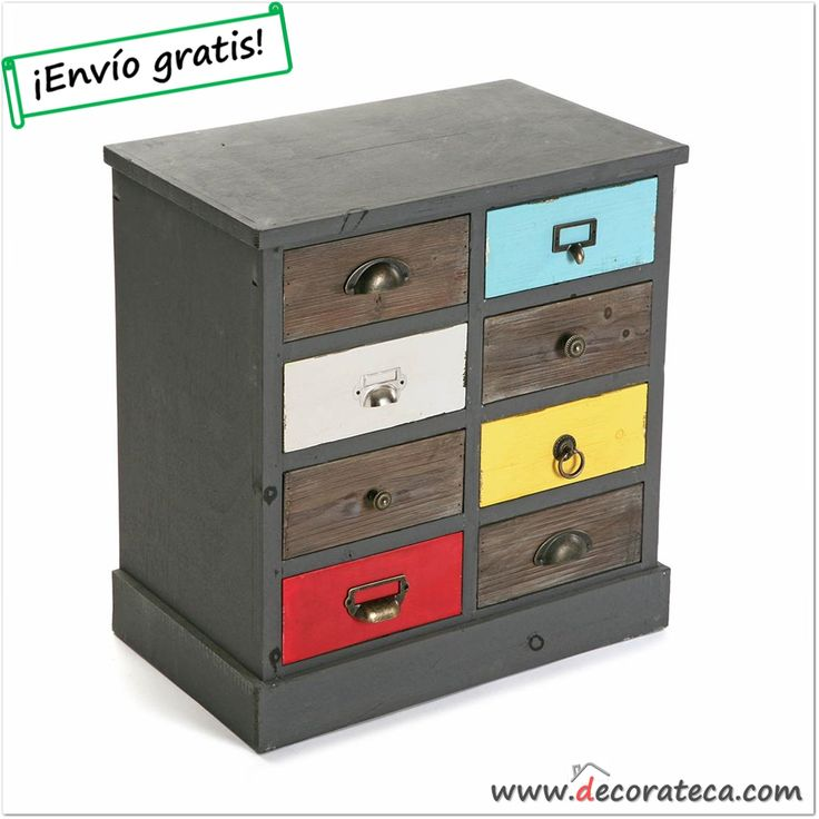 "Mueble auxiliar con cajones ""Rainbow"" - DECORATECA.COM"