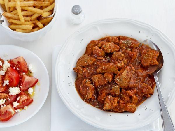 Stifado met frites