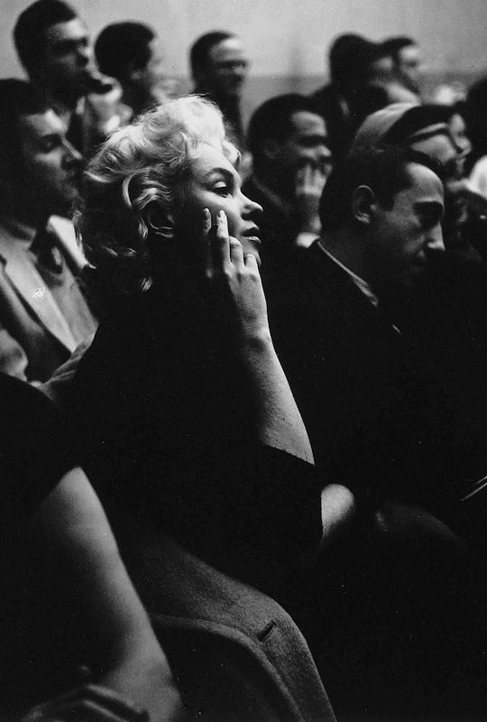 Marilyn Monroe photographed by Roy Schatt at the Actors Studio, NYC 1955