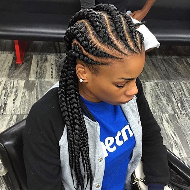 STYLIST FEATURE| Love these #cornrows styled by #HoustonStylist @SandrasBraids So neat #voiceofhair ✂️========================== Go to VoiceOfHair.com ========================= Find hairstyles and hair tips! =========================