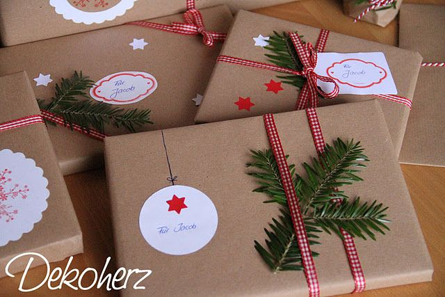 Tannenzweig + Packpapier (Diy Christmas)