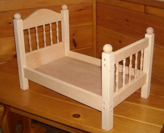 Handmade Spindle Doll Bed For 18 Inch Doll American Girl