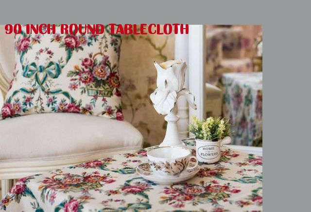 90 inch round tablecloth