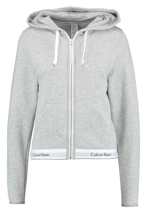 newest dfa07 91d75 HOODIE FULL ZIP - Pyjamasöverdel - grey @ Zalando.se 🛒 in ...
