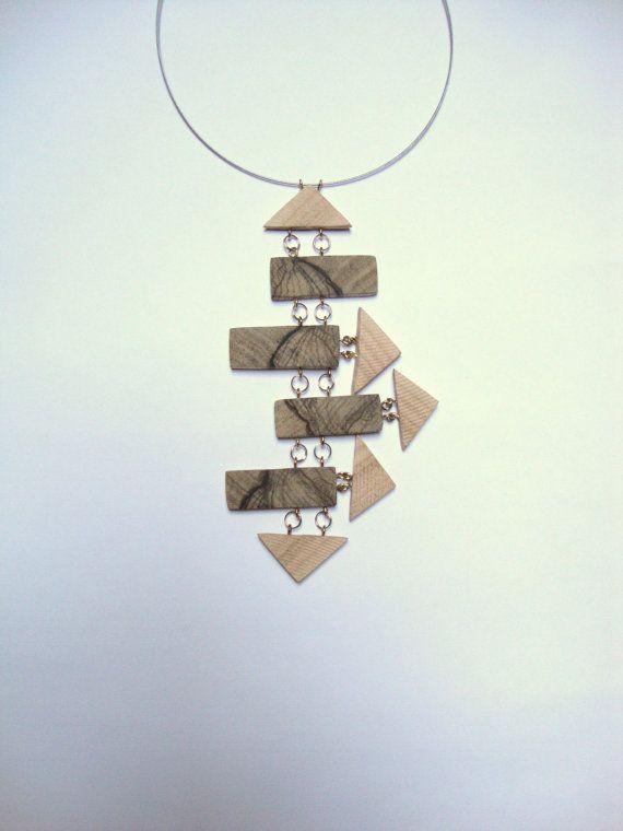 Gioielleria collana in legno naturale di Roma antica di BoisetRois