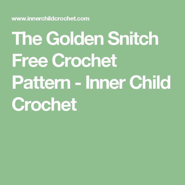 The Golden Snitch Free Crochet Pattern - Inner Child Crochet