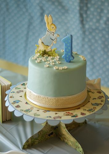 Peter Rabbit Birthday cake for a Peter Rabbit Dessert table | Flickr - Photo Sharing!