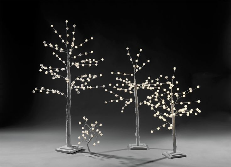 snow ball trees with led lights