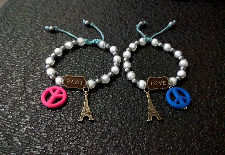gelang paris, love, peace