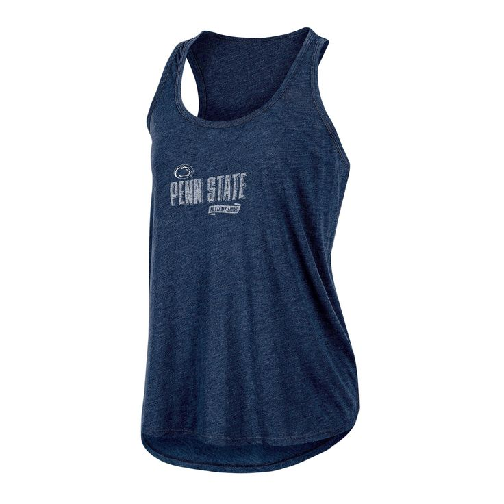 NCAA Women's Gameday Heathered Racerbank Soft Touch Poly Tank Top Penn State Nittany Lions - XL, Multicolored