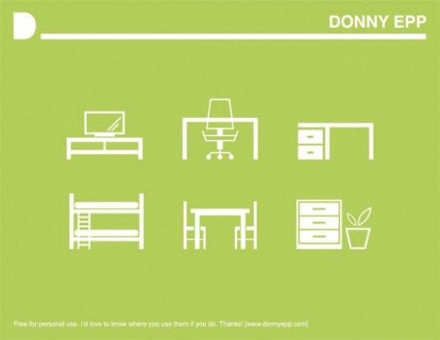 white furniture icons