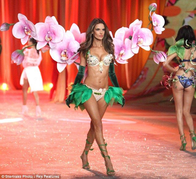 The Coveted Spot: Alessandra has been waiting 11 years to model the Fantasy Bra, designed exclusively for Victoria's Secret by London Jewelers
