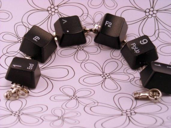Computer Geek Keyboard Key Bracelet on 7 Inch by luv4sams on Etsy, $14.00