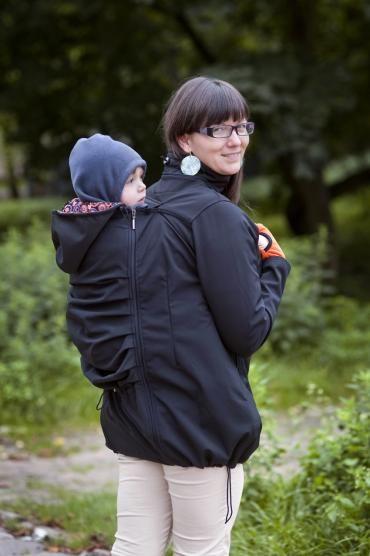Babywearing coat - black. | Twiga