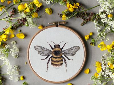 Emilie Ferris's needlework is some of the loveliest, most detailed we've ever had the pleasure of laying our eyes on.