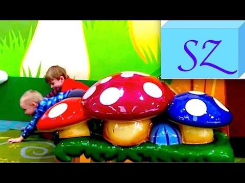 Childrens playground with mushrooms at Broadway shopping centre