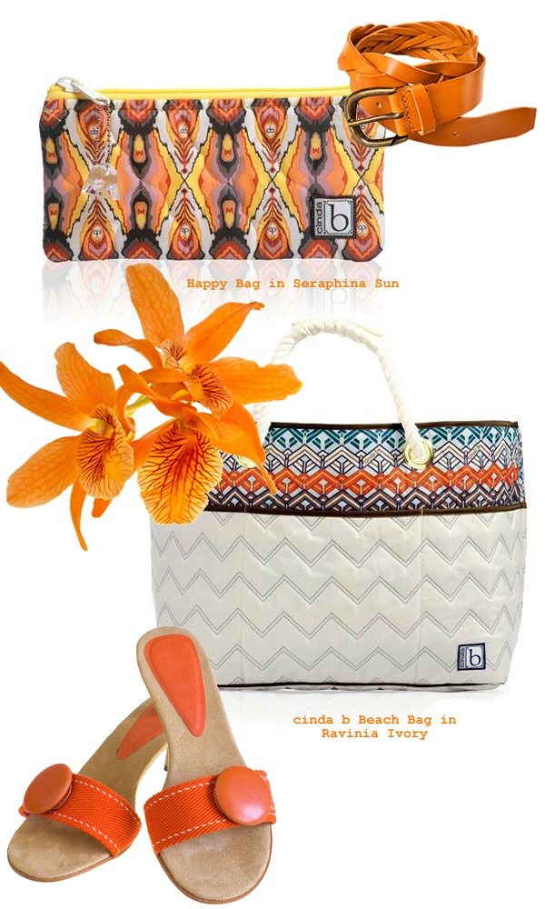 Tangerine Tango 2012 Color of the year! Prices (top to bottom) Happy: $17.00 Beach Bag: $139.00