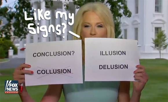 Twitter Turns Kellyanne Conway Into A Savage Meme For Bringing Dumb Signs Onto Fox News! #Paparazzi #bringing #conway #kellyanne #savage
