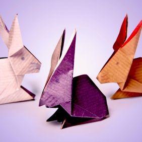 Réaliser un lapin et une cocotte en origami