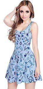Music Notes Skater Style Dress