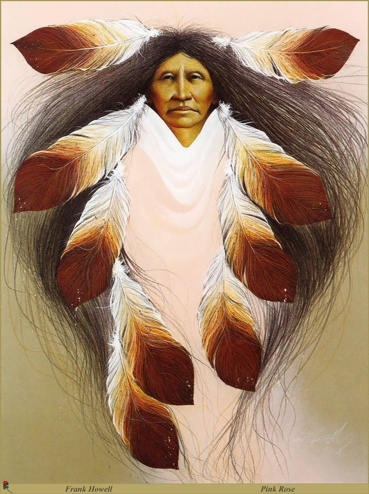 Pink Rose by Frank Howell (1937 – 1997),Lakota Sioux