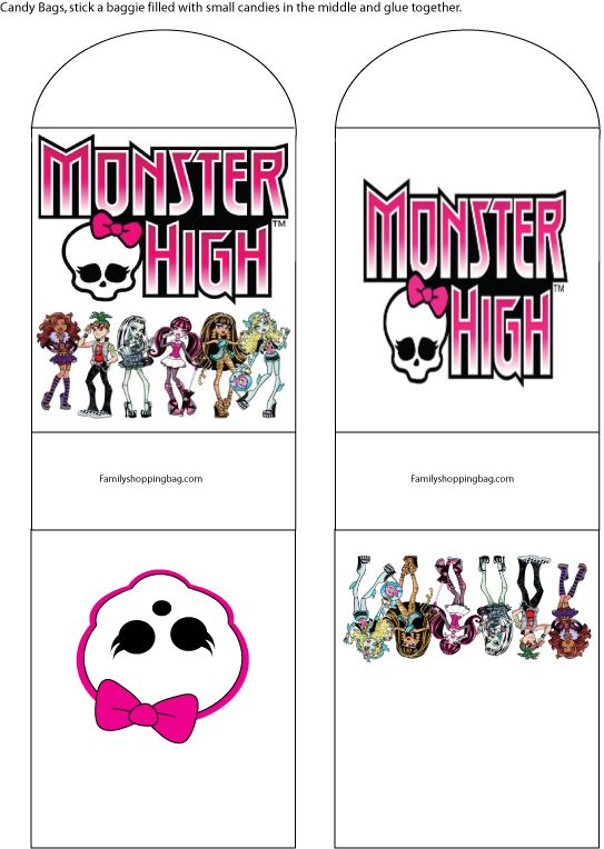 15 best Helpful pages when having a Monster High Hello Kitty – Free Monster High Party Invitations
