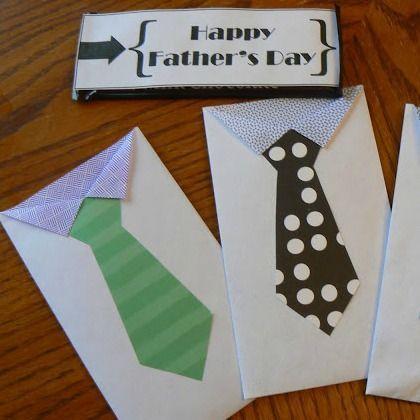 Father's Day necktie envelopes