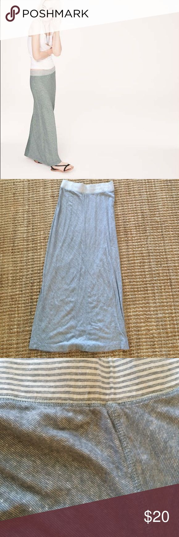 "Lou&Grey grey maxi skirt, nwot, size xs Adorable maxi skirt, size xs, has been hanging in my closet, hasn't been worn. Just a size too small for me unfortunately. 13"" at waist unstretched, 40"" long. Lou & Grey Skirts Maxi"