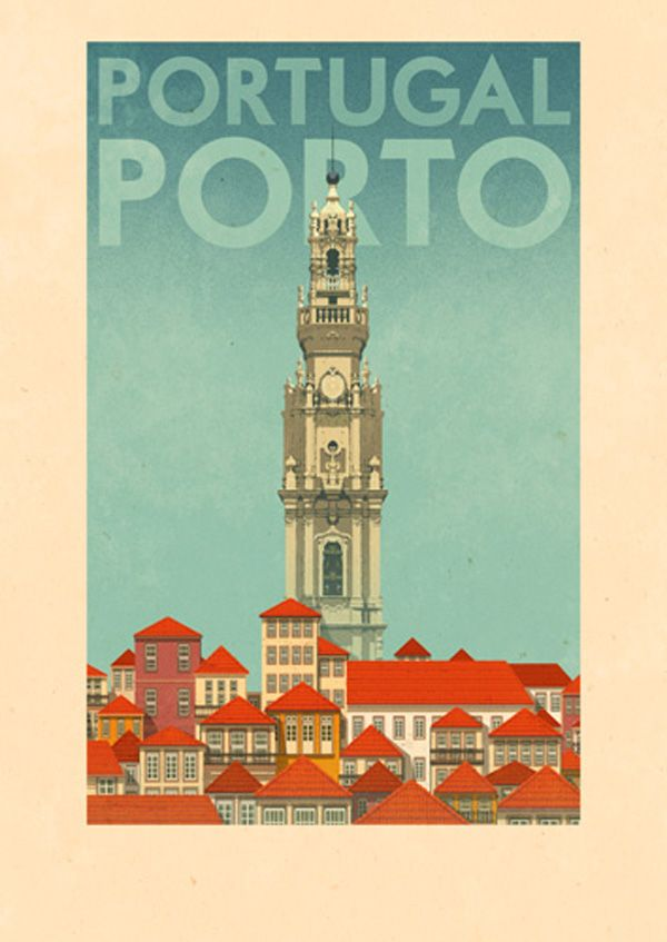 Portuguese travel posters by Rui Ricardo