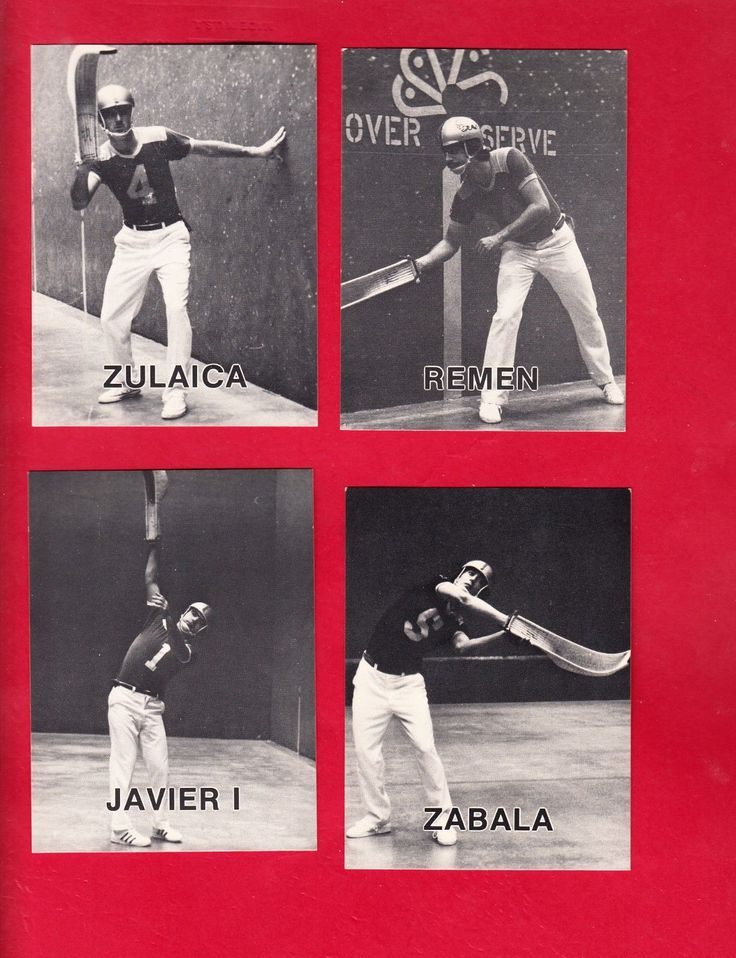 1979 Hartford Jai-Alai player cards (6) rare sports gambling | eBay