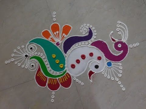 Diwali Special - Freehand Rangoli Design - YouTube